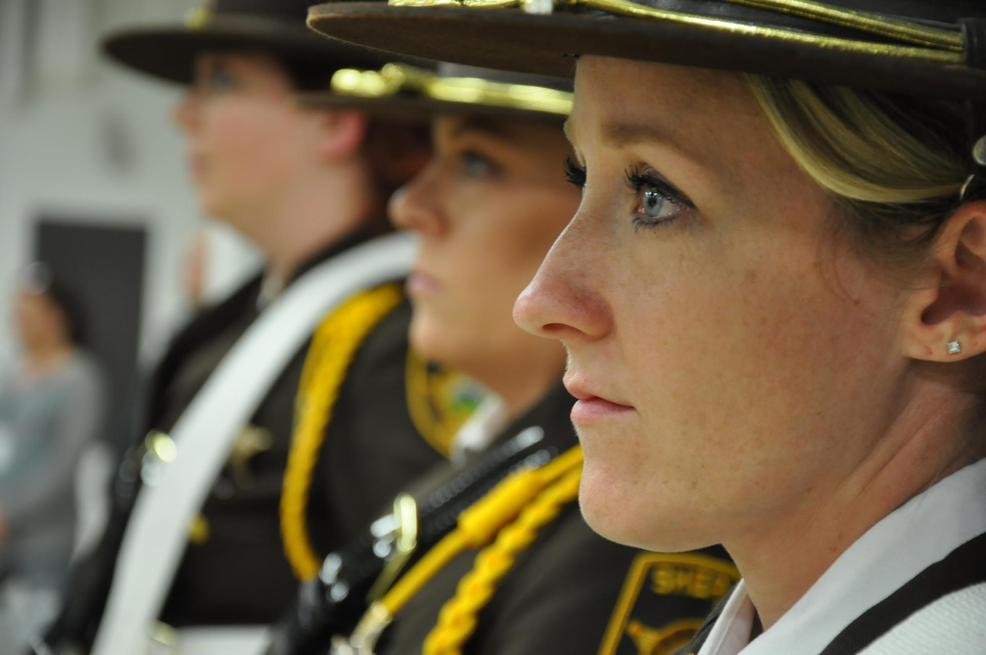 3 Cass County Sheriff female honor guard