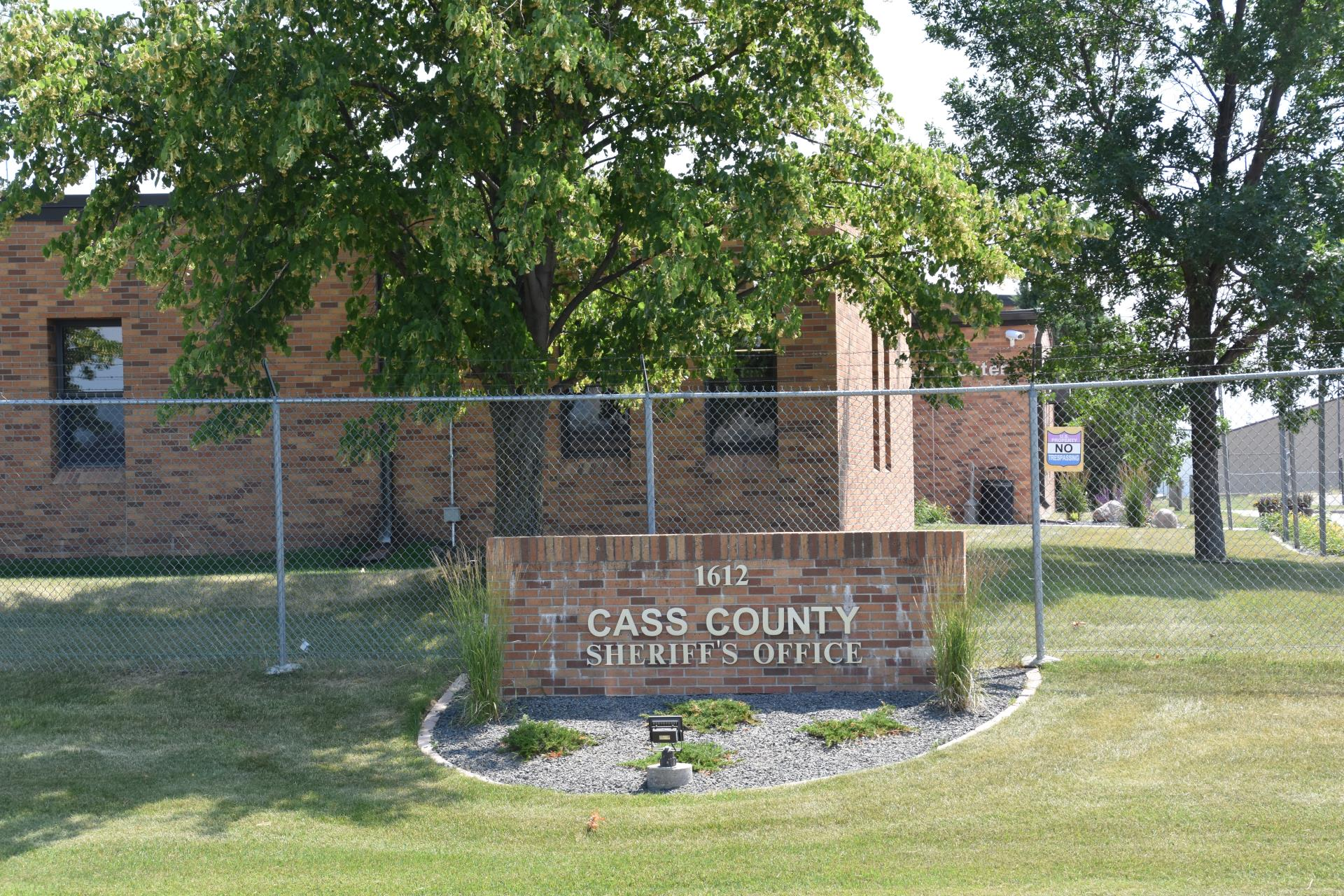 Cass County Law Enforcement Center Sign