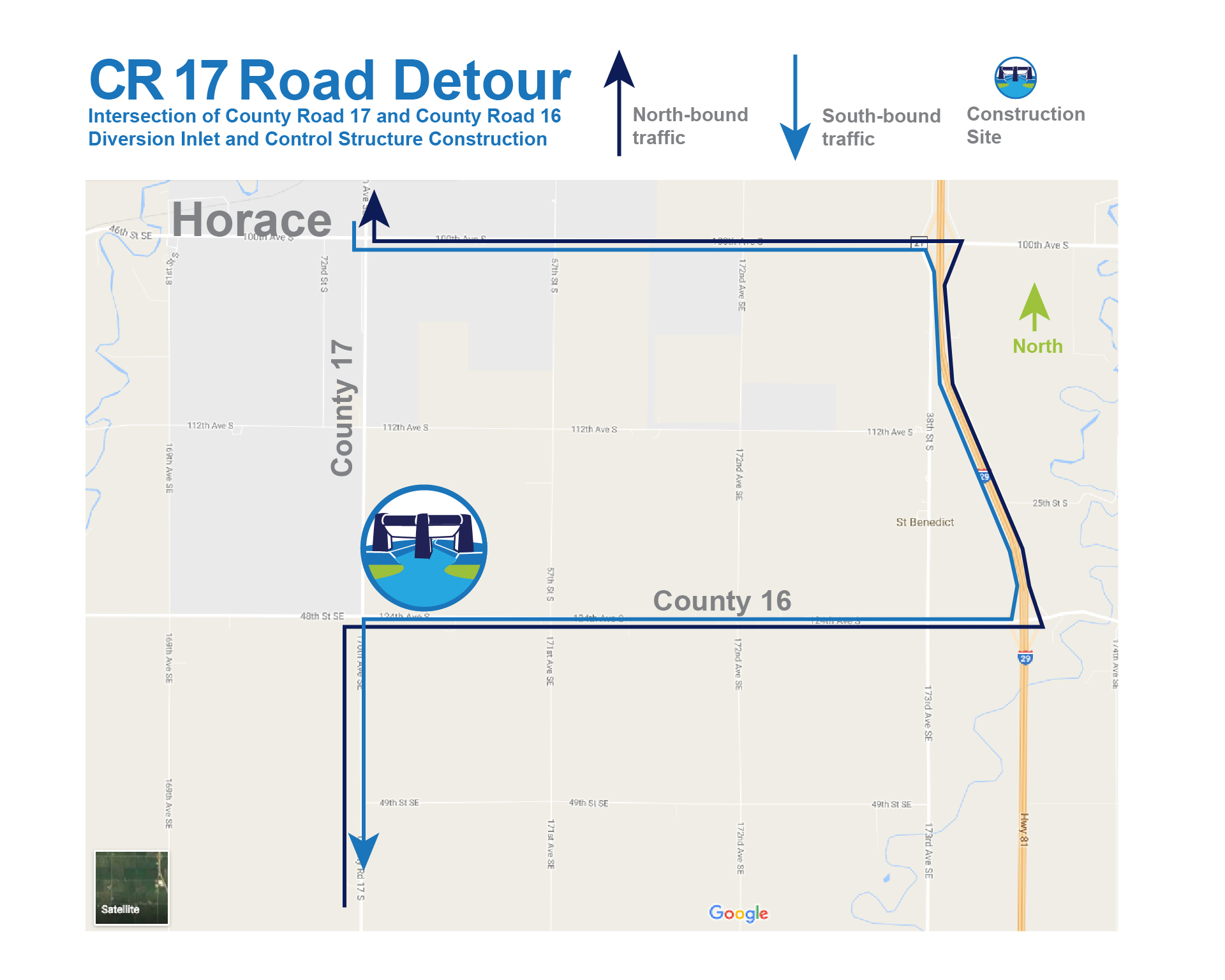 Map Detour County Road 17